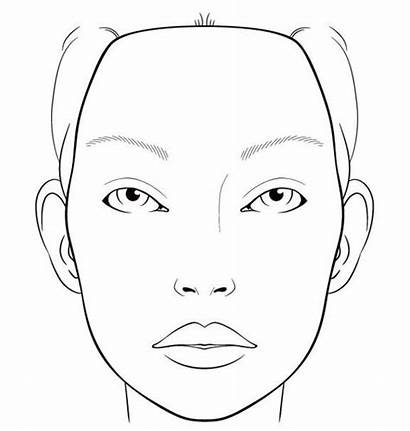 Face Template Makeup Blank Chart Charts Painting