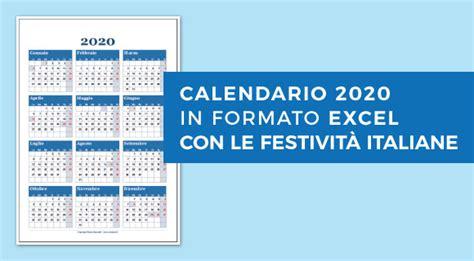 calendario excel italiano calendario