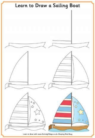 How To Draw A Boat Kindergarten by Learn To Draw A Sailing Boat Kindergarten Art