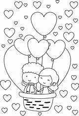 Coloring Valentine Liebe Couple Ausmalbilder Printable Couples Valentines Malvorlagen Zebra Anime Sheets Ausdrucken Zum Adult Svadba Ballon Disegnare Cuore Cuori sketch template