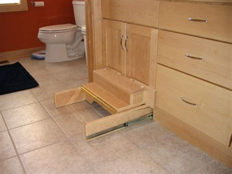 retractable step stool  kitchen cabinets google search