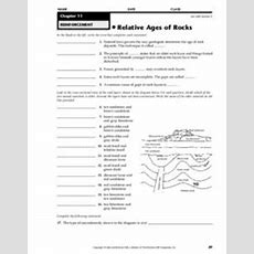 Relative Ages Of Rocks Worksheet For 7th  12th Grade  Lesson Planet