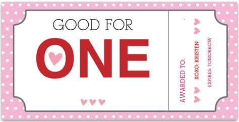 Valentines Voucher Template 45 Coupon Book Templates Free
