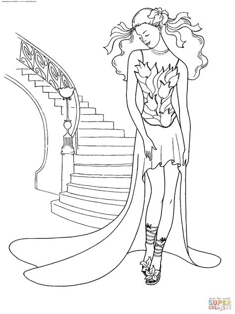 fashion dress coloring pages getcoloringpagescom