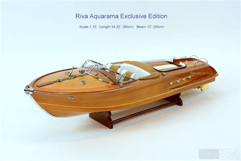 Riva Boats Wood by Riva Aquarama Handcrafted Wooden Classic Boat Model