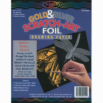 scratch art gold silver foil cavalier art supplies