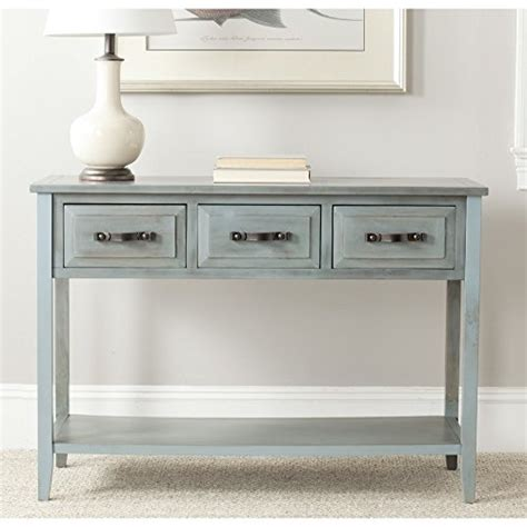 Safavieh American Home Collection by Safavieh American Home Collection Aiden Barn Blue Console