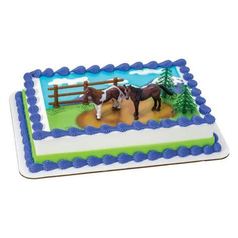 cake topper edible horses decoset background walmart cakes
