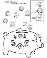 Coloring Money Coins Printable Animal Saving Play Bank Piggy Wallet Dollar Purse Bills Fun Toy Count Popular Dibujos Colorear Coloringhome sketch template