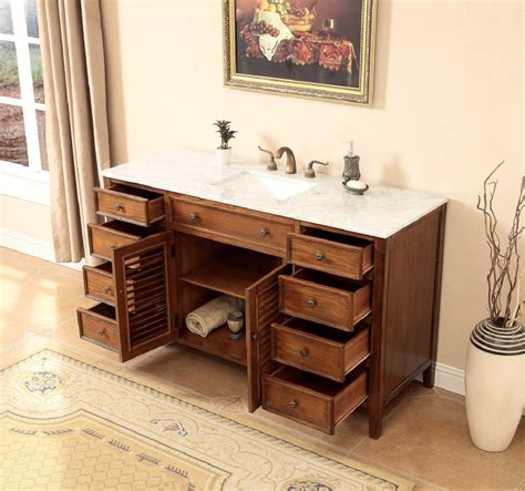58 Inch Bathroom Vanity Coastal Cottage Beach Style Medium