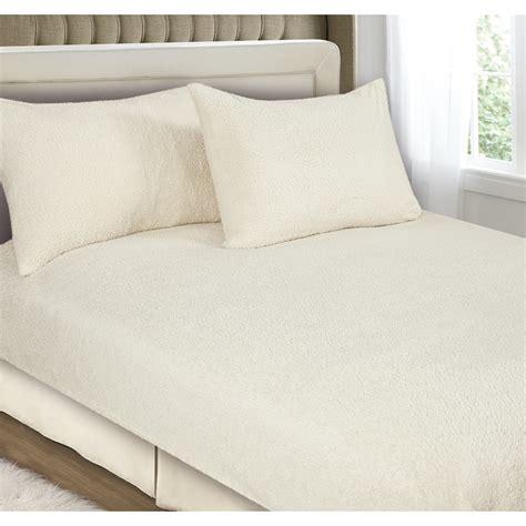 fleece fitted sheet downland fleece fitted sheet set king bedding b m 3769