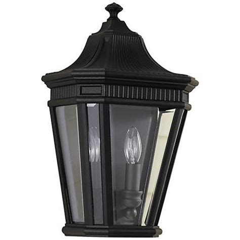 bellagio collection 21 quot high black outdoor wall light