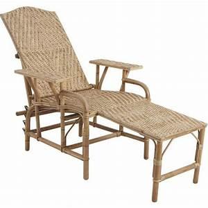 Bain De Soleil Rotin : chaise longue rotin lame antique la vannerie d 39 aujourd 39 hui ~ Teatrodelosmanantiales.com Idées de Décoration