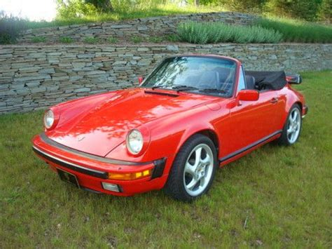 convertible porsche red buy used rare buy guards red 1984 porsche 911 carrera