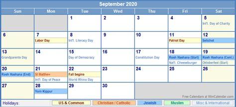 september calendar holidays picture