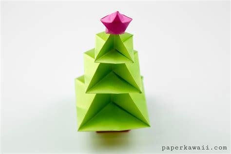 origami christmas trees origami tree tutorial paper kawaii