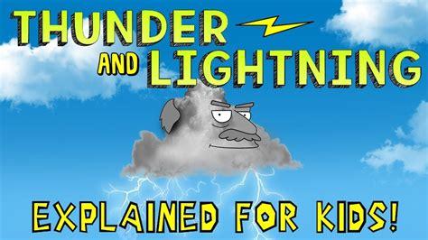 thunder  lightning explained  kids youtube