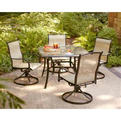 hton bay altamira tropical 5 patio dining set