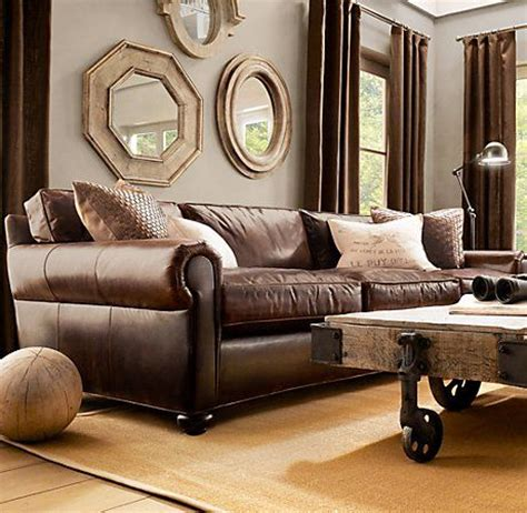 sofa design ideas leather restoration hardware lancaster
