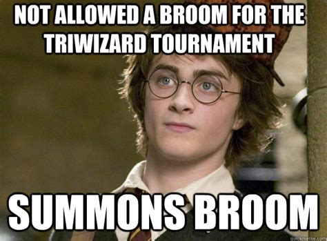 Broom Meme - book emphasizes vivid green eyes clearly has blue eyes scumbag harry potter quickmeme