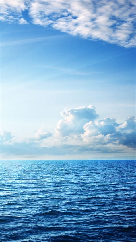 wallpaper sea   wallpaper ocean sky clouds nature