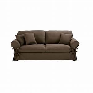 Sofa Aus Paletten Matratze : ausziehbares 3 4 sitzer sofa aus baumwolle taupefarbener matratze 6 cm butterfly maisons du ~ A.2002-acura-tl-radio.info Haus und Dekorationen
