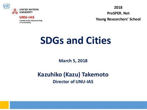 keynote   sdgs  cities