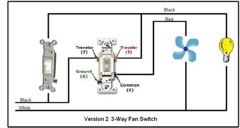 a 3 way switch controls bathroom fan control