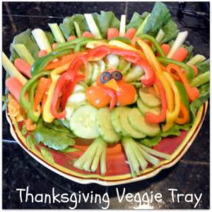 Cute Veggie Tray Idea for Thanksgiving