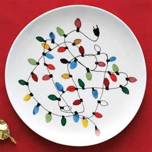 Christmas Lights Plate