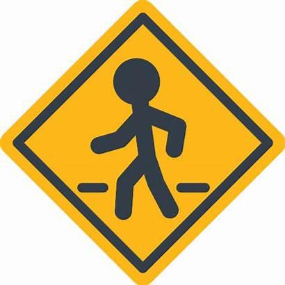 Crosswalk Icon Icons Pizzeria Pedestrian Svg Wastewater