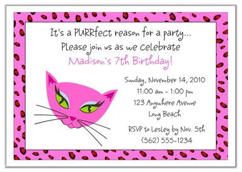diva kitty cat birthday party invitations diva kitty