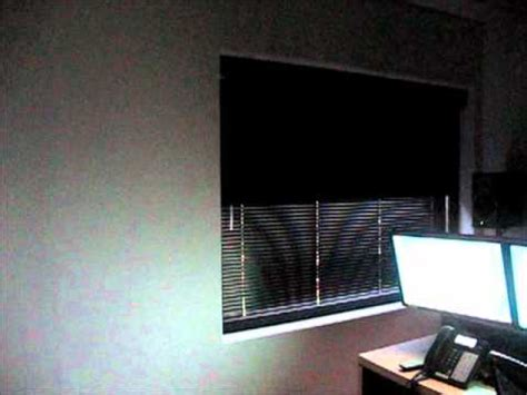 Motorized Media Room Blackout Shades Blinds Somfy Youtube