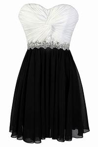 Black and White Party Dress, Cute Black and White Dress ...