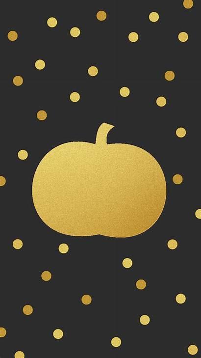 Halloween Fall Iphone Pumpkin Wallpapers Gold Backgrounds