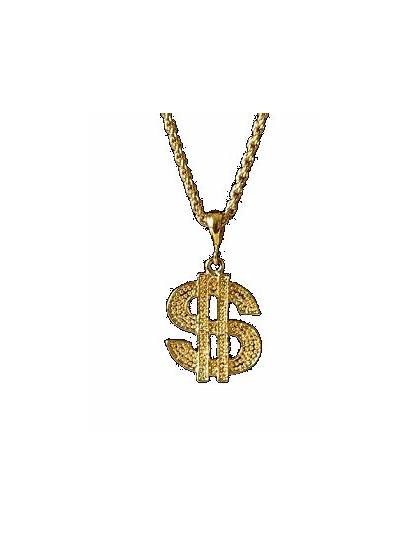 Glitter Chain Graphics Dollar Gifs Necklace Thing