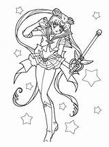 Coloring Pages Sailor Moon Luna Sailormoon Popular sketch template