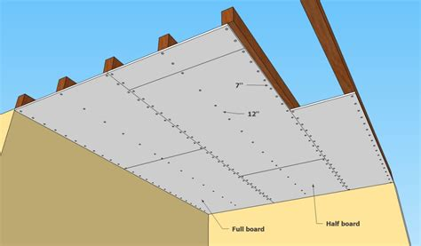 ceiling joist spacing for gyprock how to install drywall ceiling howtospecialist how to