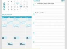 Planilla de Excel Calendario con Agenda PlanillaExcelcom