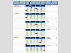 2016 Calendar Templates Microsoft and Open Office Templates
