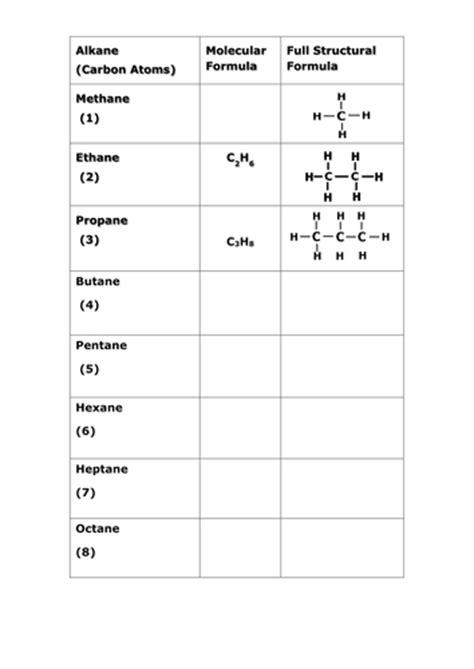 alkane worksheet by katier83 teaching resources tes