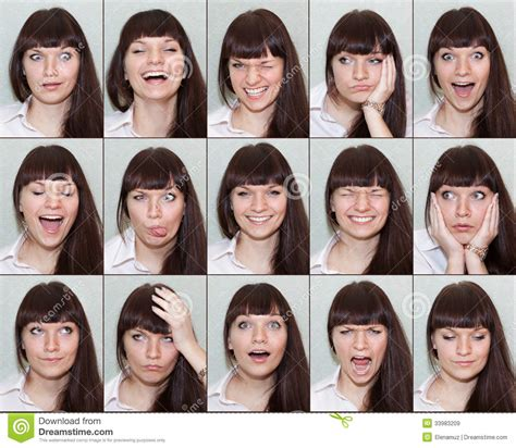 range of human emotions collage of different emotions on the of the royalty free stock images image 33983209