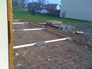 Faire Une Chape Exterieur : couler une dalle beton exterieur faire une dalle pour un ~ Premium-room.com Idées de Décoration