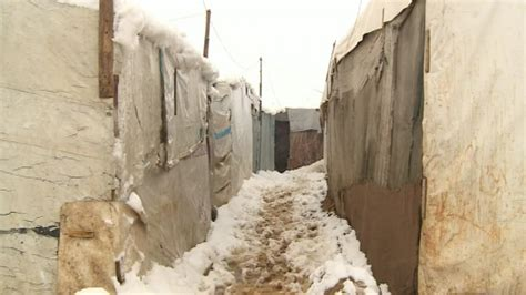 Snow Storm In Lebanon Threatens Lives Of Syrian Refugees