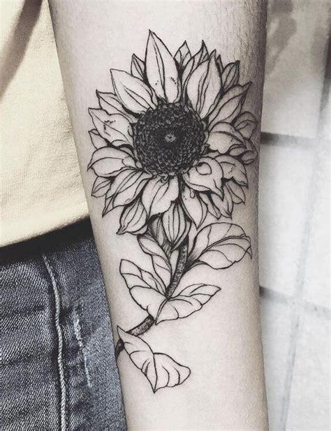 sunflower tattoos  women ideas  designs  girls
