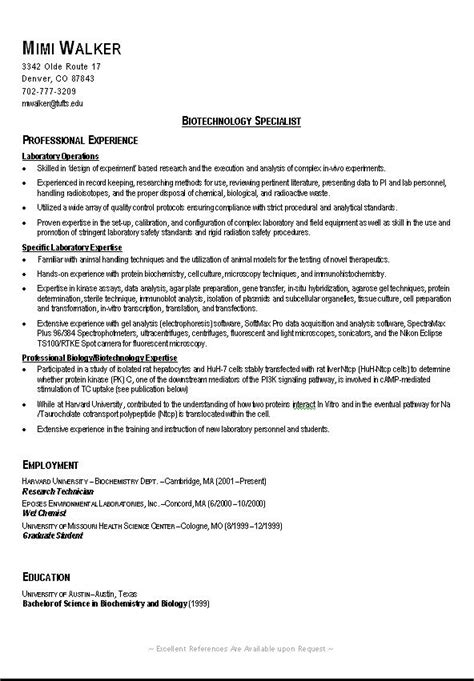 Exle Of A College Resume by Sle College Resume