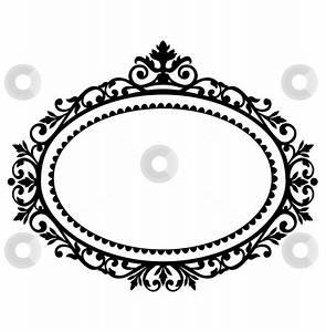 free clipart oval frames | Decorative frame stock vector ...