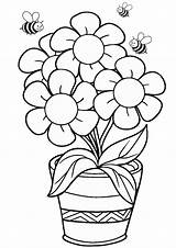 Coloring Pages Printable Flower Pdf Print Craft sketch template