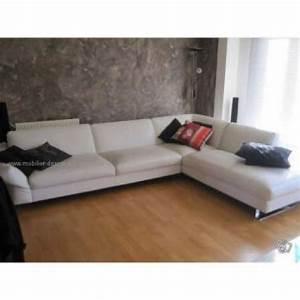 canape d39angle cuir blanc roche bobois univers canape With tapis design avec canape angle cuir roche bobois