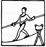 Tightrope Prawny Clipartmag sketch template